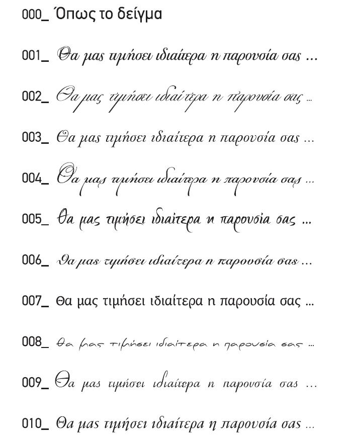 γραμματοσειρές κειμένων